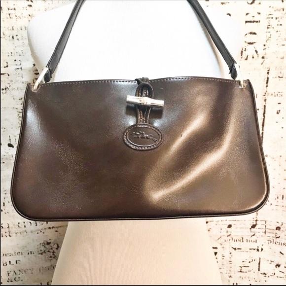 Longchamp Sac Baguette Bag Roseau Brown Purse